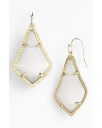 Kendra Scott | Gray 'alex' Drop Earrings - Slate Catseye/ Gold | Lyst