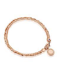 Astley Clarke | Pink Rose Gold Vermeil Cosmos Nugget Bracelet | Lyst