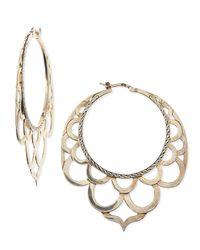 John Hardy   Metallic Naga Silver Lace Hoop Earrings   Lyst