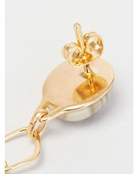 Helena Rohner - Metallic Oval Stone & Rhombus Earrings Gold Plated - Lyst