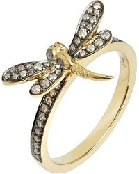 Annoushka | Metallic Love Diamonds 18ct Yellow-gold Dragonfly Ring | Lyst