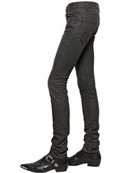 Saint Laurent - Black 15.5Cm Skinny Stretch Cotton Denim Jeans for Men - Lyst