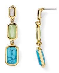 Ralph Lauren | Blue Lauren Triple Stone Drop Earrings | Lyst