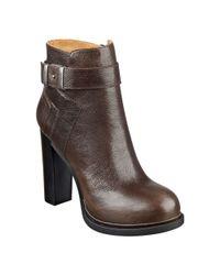 Nine West | Brown Sherbert Round-toe Booties | Lyst