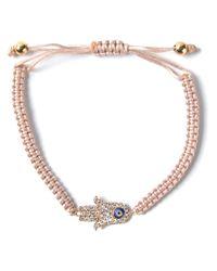 Aamaya By Priyanka Natural Hamsa Hand Friendship Bracelet