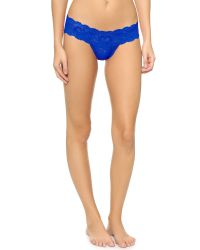 Cosabella - Blue Never Say Never Cutie Thong 4 Pack - Anthracite/cobalt/pink/barbado - Lyst