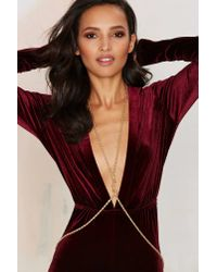 Nasty Gal - Metallic Get Roped In Body Chain - Lyst