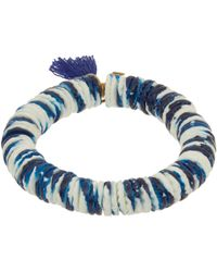 Isabel Marant Blue Fiji Beaded Tassel Bracelet