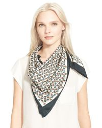 Tory Burch - Multicolor Chain Print Silk Scarf - Lyst