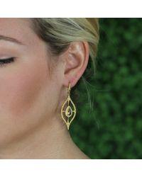 Annie Fensterstock Metallic Golden Ella Earrings