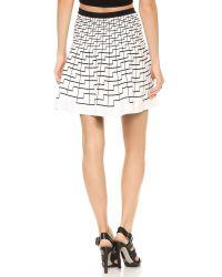 Ohne Titel Geo Skirt - White/Black