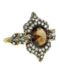 Cathy Waterman Metallic Double Leaf Ring