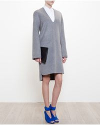 Acne Studios Gray Oversized Wool-Cashmere Dress