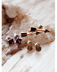Free People | Pink Tiny 6 Pack Studs | Lyst