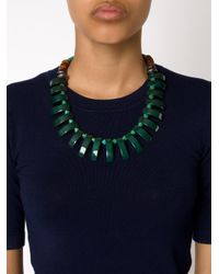 Lizzie Fortunato | Green Beaded Tile Necklace | Lyst