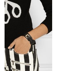 Mulberry - Black Leather Wrap Bracelet - Lyst