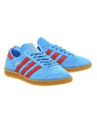Adidas Originals Blue Hamburg Trainers for men