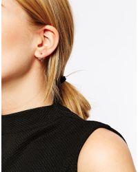 ASOS Metallic Mini Bird Swing Earrings