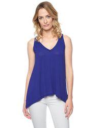 Splendid | Blue Drapey Lux V-neck Tunic | Lyst