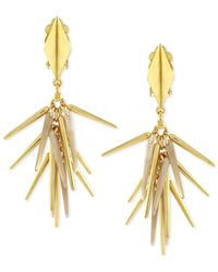 Vince Camuto - Metallic Gold-tone Spike Earrings - Lyst