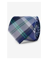 Express | Blue Multicolor Plaid Narrow Silk Tie for Men | Lyst