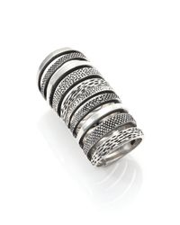 Pamela Love | Metallic Sterling Silver Double Cage Ring | Lyst