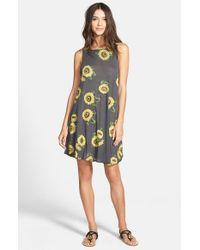 Wildfox Gray 'Contempo Sunflower' Sleeveless Dress