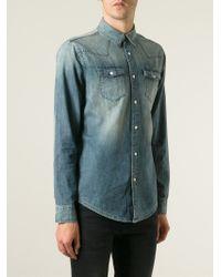 BLK DNM - Blue Stone Washed Denim Shirt for Men - Lyst