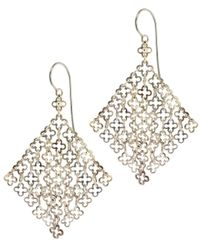 Dinny Hall Metallic Statement Silver Talitha Drop Earrings