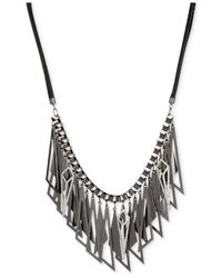 Steve Madden | Metallic Hematite-tone Geometric Shaky Frontal Necklace | Lyst