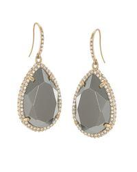 ABS By Allen Schwartz | Metallic 12 Kt. Gold Plated Drop Earrings | Lyst