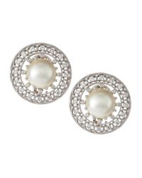 Penny Preville - Natural Diamond Mabe Pearl Earrings - Lyst