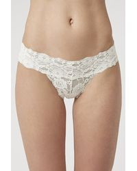 TOPSHOP | White Floral Lace Thong | Lyst