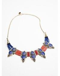 Free People   Blue Karen London Womens Free Bird Necklace   Lyst