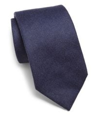 Isaia - Blue Cashmere Tie for Men - Lyst