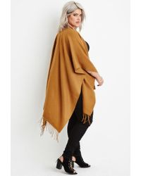 Forever 21 - Brown Plus Size Fringed Shawl - Lyst