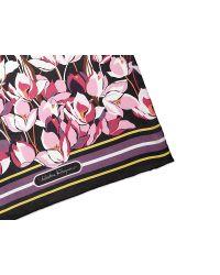 Ferragamo - Pink Cherry Blossom Print Scarf - Lyst