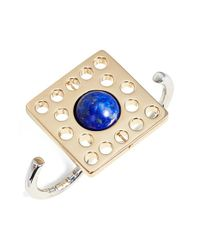 Uribe | Blue Lapis Lazuli Open Two-finger Ring | Lyst