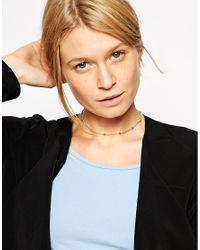 ASOS | Metallic Dot Dash Choker Necklace | Lyst