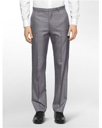 Calvin Klein | Gray White Label Straight Fit Heathered Pants for Men | Lyst