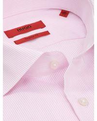 BOSS Pink Hugo Gordon Regular Fit Cotton Shirt for men