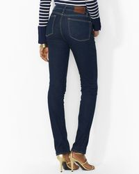 Ralph Lauren - Blue Petite Slimming Modern Straight Jeans - Lyst