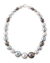 Majorica | Multicolor Nuage Graduated Pearl Statement Necklace for Men | Lyst
