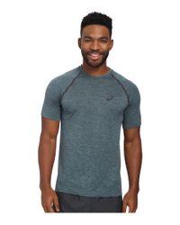 Asics | Blue Seamless Short Sleeve for Men | Lyst