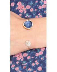 Tai | Blue Pave Large Stone Open Cuff | Lyst