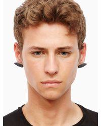 KTZ - Metallic Hand Symbol Earring for Men - Lyst
