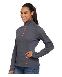 Spyder - Pink Valor Half Zip Mid Weight Core Sweater - Lyst