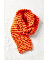 Urban Outfitters Orange Icelandic Rib Scarf