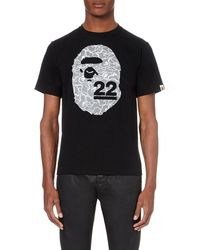 A Bathing Ape | Black 22nd Anniversary Ape Cotton T-shirt for Men | Lyst