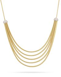 Marco Bicego | Metallic Cairo 5-strand Bib Necklace With Diamonds | Lyst